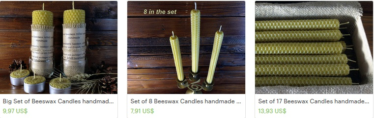 Handmade besswax candles