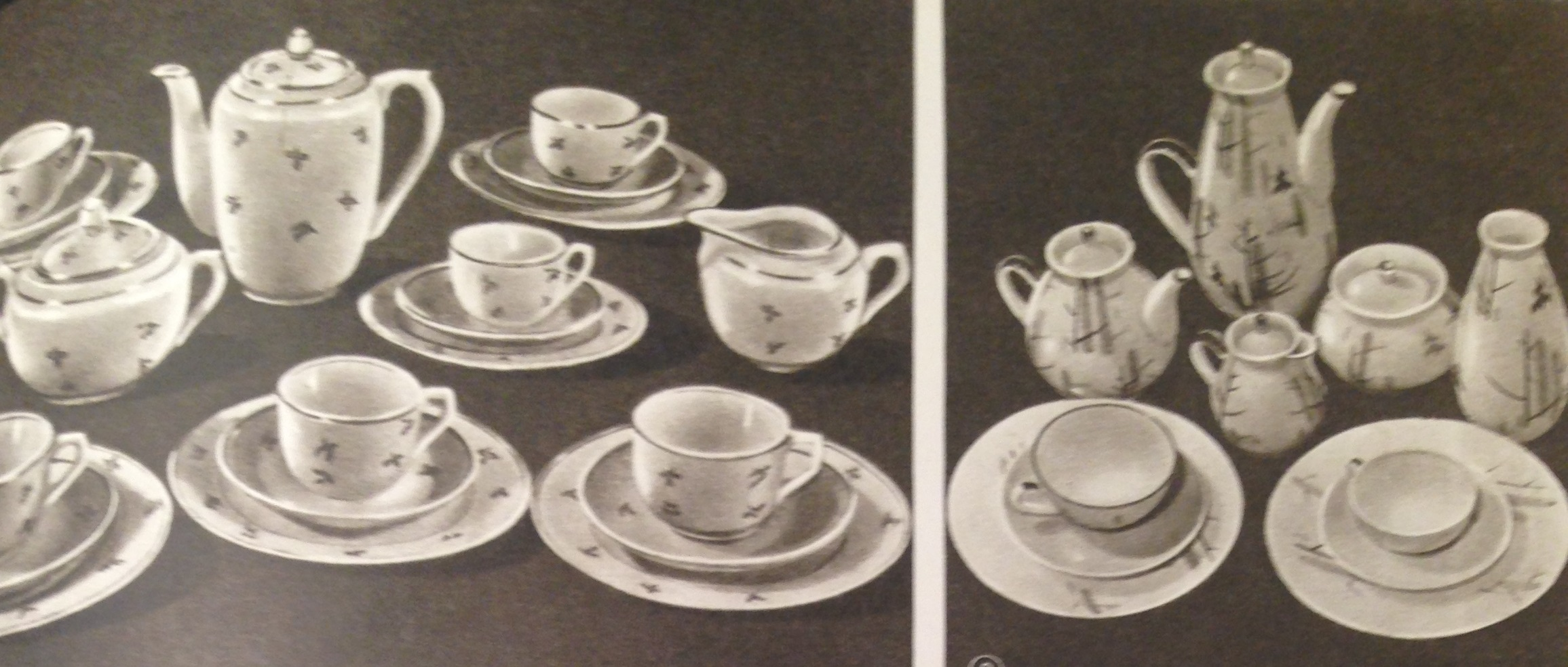 Soviet porcelain picture from Encyclopedia of the household